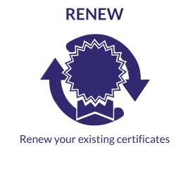 Renew your existing certificates